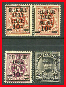 Belgium Postage Stamps Scott 254 257 Used Selection B1044 Ebay