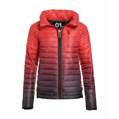New Womens Superdry Power Fade Jacket Carbon