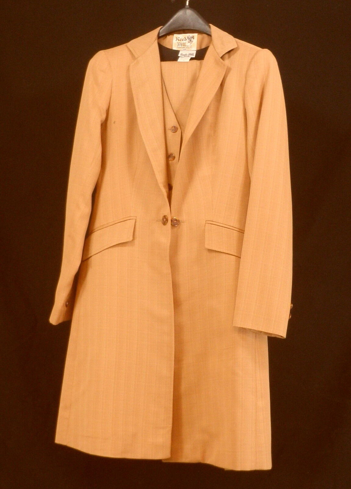 Reed Hill Saddleseat suit 3 piece Pumpkin Spice   Bronze Poly 10 - Made in USA