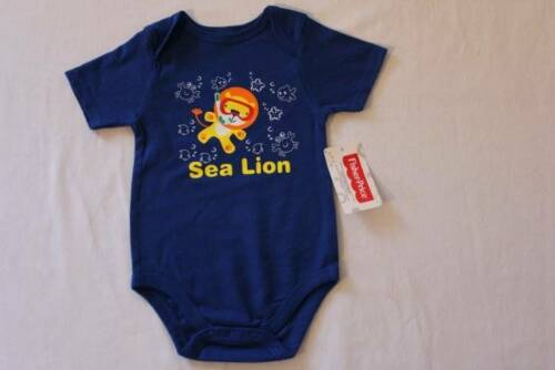 Baby Boys Bodysuit 0-3 Months Sea Lion Blue Creeper Outfit One Piece Infant