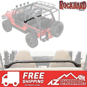 rock hard 4x4 front seat straight across harness bar 97-06 jeep wrangler tj  lj | ebay  ebay