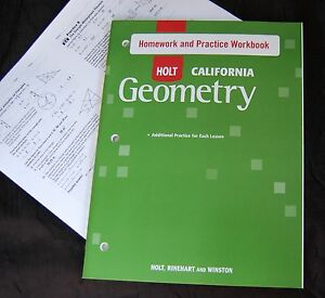 holt california geometry homework and practice workbook answers