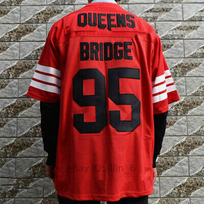 Prodigy #95 Hennessy Queens Bridge Movie Stitched Football Jersey Light Blue NWT