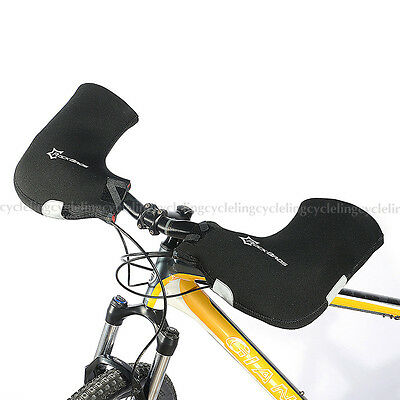 RockBros Winter Cycling Gloves Mountain Bike Bar Handlebar Mittens Mitts Black