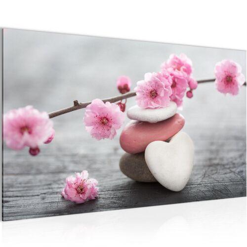 Image Images la fresque XXL 70x40 fleurs pierres cœur art imprimé toile de nappes