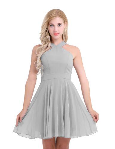 Women/'s V Neck Chiffon Lace Short Prom Party Cocktail Bridesmaid Wedding Dress