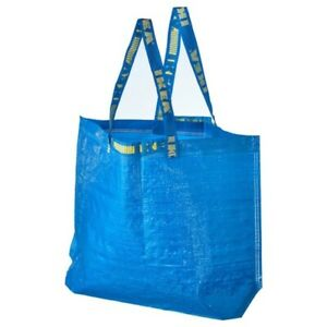 IKEA-Frakta-Tote-Medium-Eco-Shopping-Grocery-Laundry-Storage-Tote-Bag-Blue-New