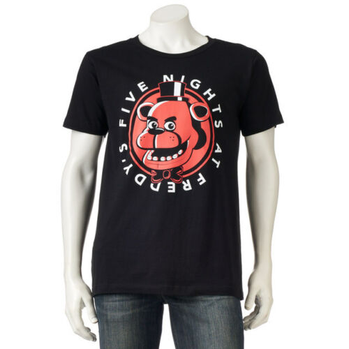 Mens Five Nights at Freddy/'s Black /& Red T Shirt NEW Size Med or Large or XL NWT