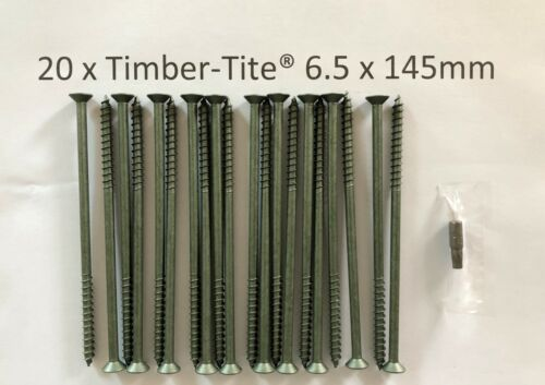 Timber-Tite®  6.5 x 145mm Joist Screw 20 pack UK seller FREE postage