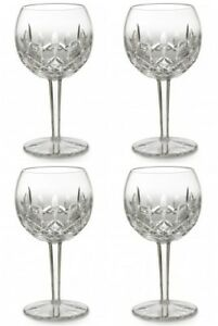Waterford-LISMORE-Oversized-Balloon-Wine-Glass-16-oz-4-Four-Glasses-New