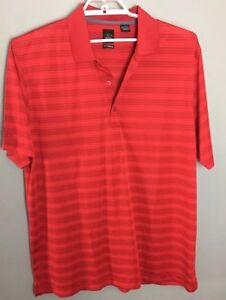 Page-And-Tuttle-Golf-Polo-Cool-Swing-SS-3-Button-Collar-Red-Men-s-Extra-Large-XL