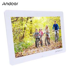 """Andoer 14"""" Screen Digital Electronic Photo Frame with Clock MP3 MP4 Player G4M7"""