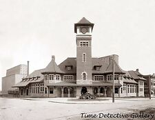 Grand Trunk Railroad Station, Portland, Maine - c.1900 - Historic Photo Print