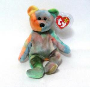 9e90f427ed3 GARCIA TY Beanie Baby Bear Rare 1995 Retired PVC Pellets German ...