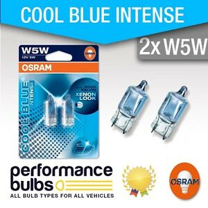 PEUGEOT-206-SW-02-gt-Number-Plate-Light-Bulbs-W5W-501-Osram-Halogene-Cool-Blue