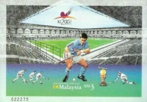 SJ-10th-Men-039-s-Hockey-World-Cup-2002-Malaysia-Games-Sports-Imperf-ms-MNH