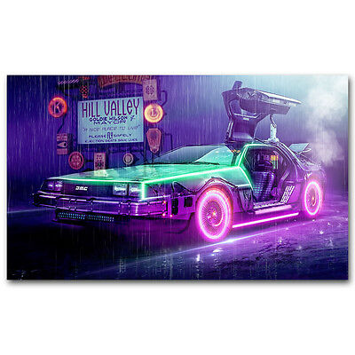 New Back to the Future 1 2 3 Amazing Movie Art Silk Poster 13x18 inches