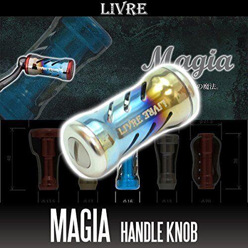 LIVRE Magia Titanium Handle Knob 1 piece FIRE   TITANIUM