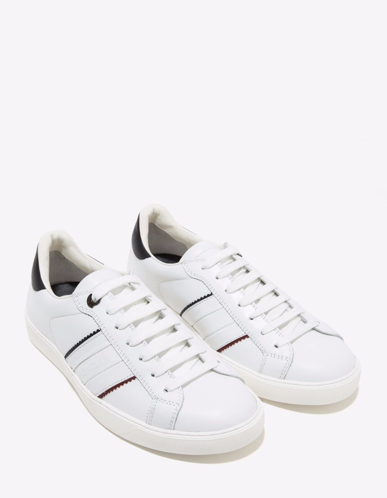 New Moncler New Gourette White Leather Trainers RRP  BNWT