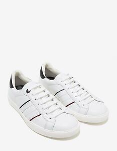 4d4f514c8 New Moncler New Gourette White Leather Trainers RRP £310 BNWT