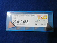 T&o 22-010-685 Tpg321 Bl692 Chipbreaker Inserts Pack Of 10