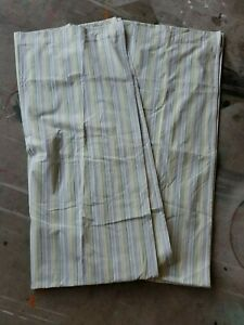 Pottery Barn Kids Quot Blue Green Striped Quot 44 X 84 Lined Drape
