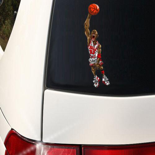 MICHAEL AIR JORDAN  Crazy Car Decal  VINYL  WINDOW STICKER  large 8 inch