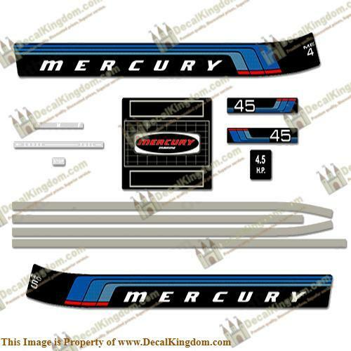 Mercury 1977 Outboard Decal Kit (Multiple Sizes Available) 3M Marine Grade