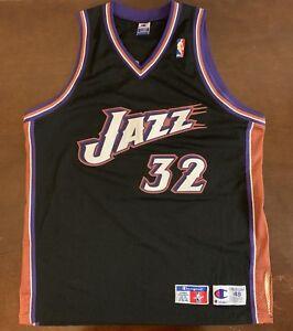 2e9136499e7 Rare Vintage Authentic Champion NBA Utah Jazz Karl Malone Basketball ...