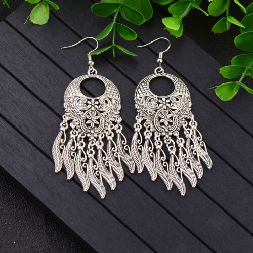 Tibetan Silver Vintage Turquoise Women Fashion Jewelry Dangle Boucles d/'oreilles meilleur cadeau
