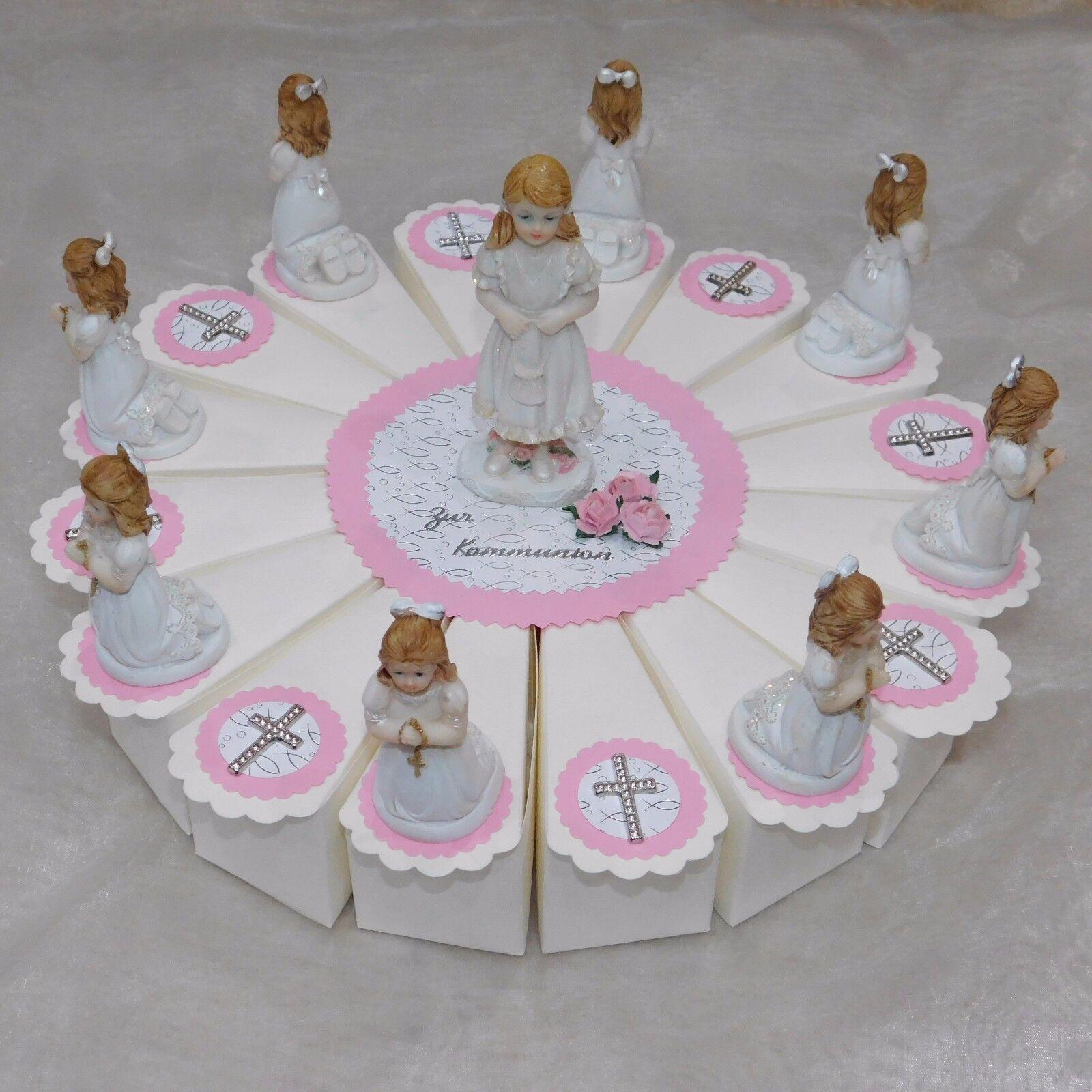 Gastgeschenke Kommunion - Bomboniere Torte-  Mädchen - Rosa