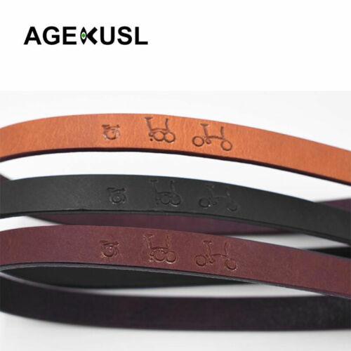 AGEKUSL Bike Bag Carrier Block Tape Leather Quick Release Rope For Brompton