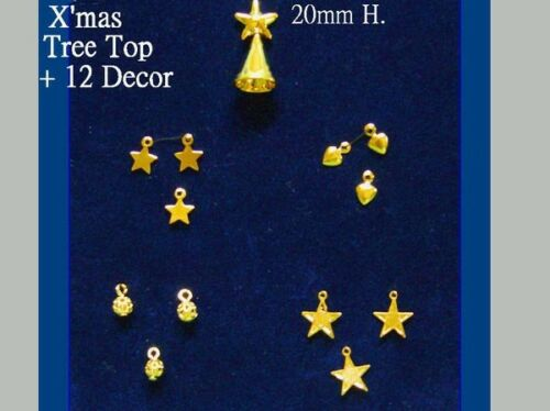 Albero Topper Casa delle Bambole in Miniatura ALBERO di Natale Decorazioni