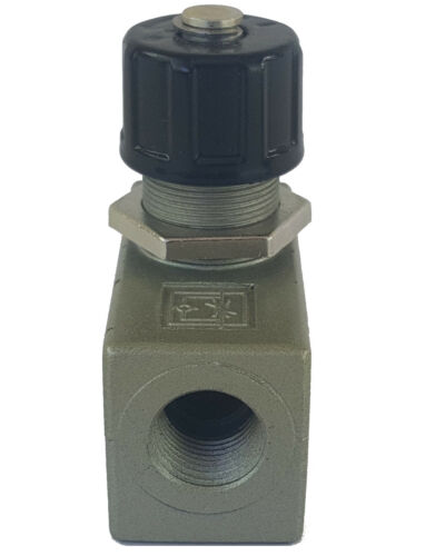 "Inline Adjustable Air Flow Control Valve Female 3//8/""npt Air Bag Suspension Speed"
