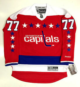 new product f13b8 027d9 Details about TJ OSHIE WASHINGTON CAPITALS REEBOK PREMIER HOME THIRD JERSEY  NEW WITH TAGS