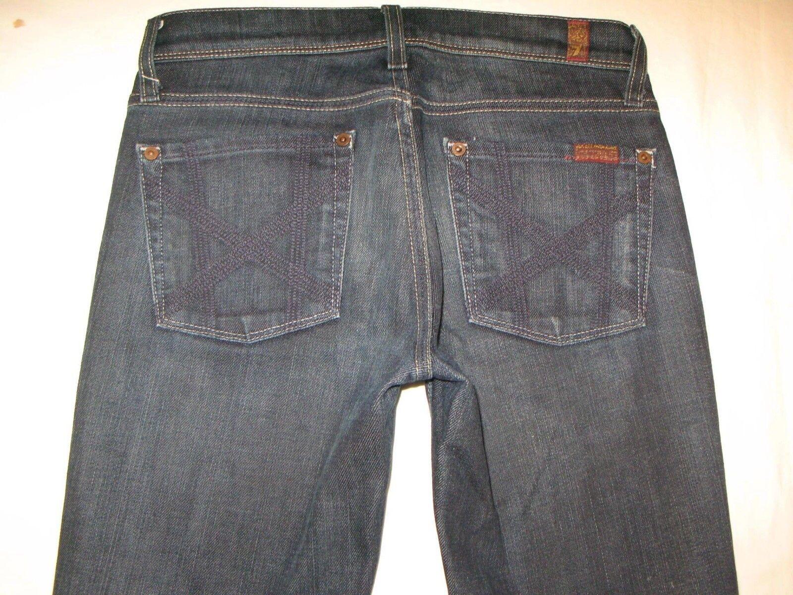 7 For All Mankind Womens Mia Jeans Sz 26 Low Slim Bootcut Dark Wash w Stretch
