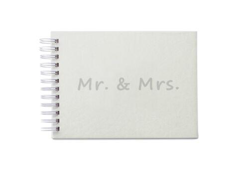 /& Mrs Erinnerungs-Album Mr 22 x 17 cm 25 Blatt leer Hochzeit Scrapbooking