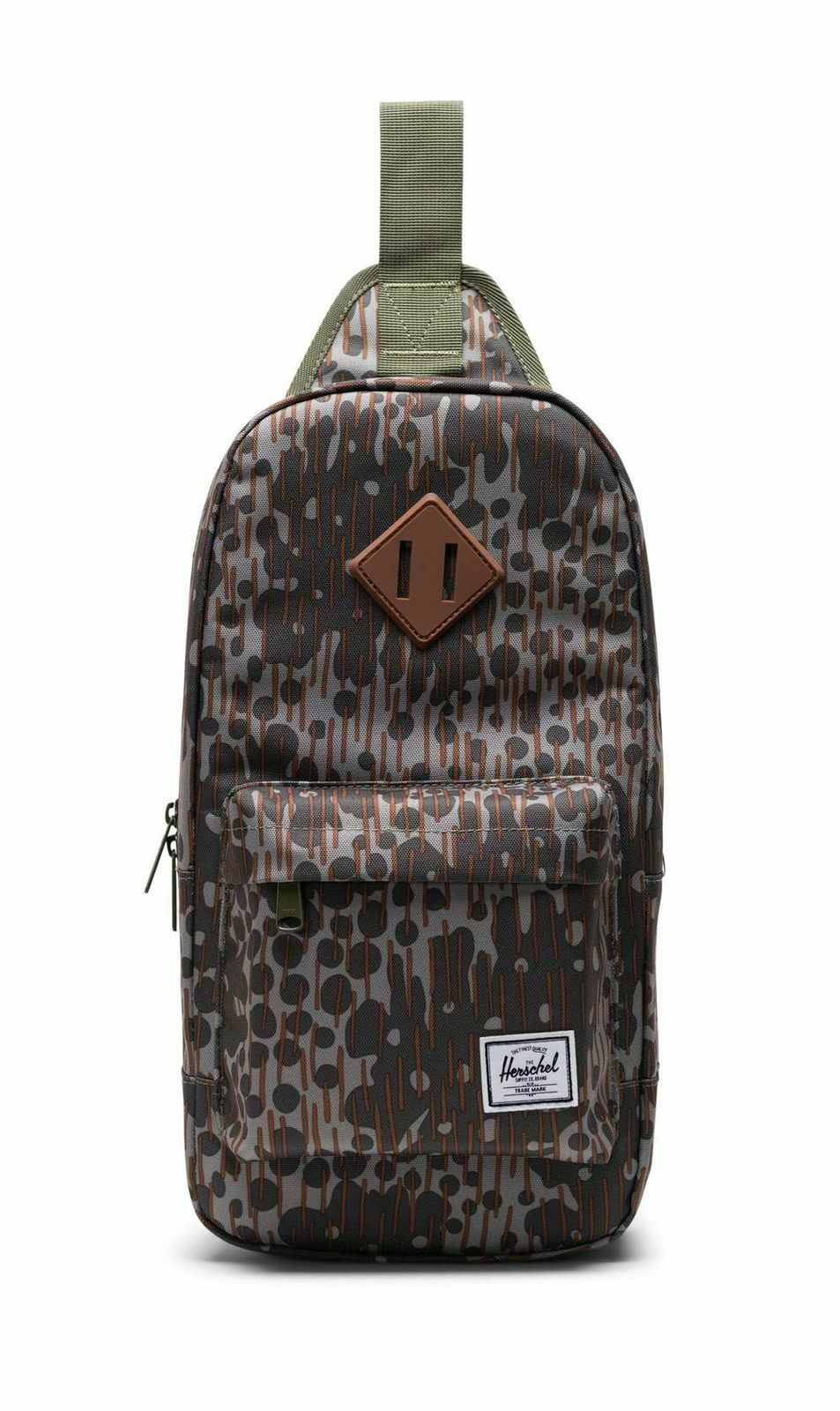 Herschel Heritage Shoulder Bag Sling Bag Green Pea Camo