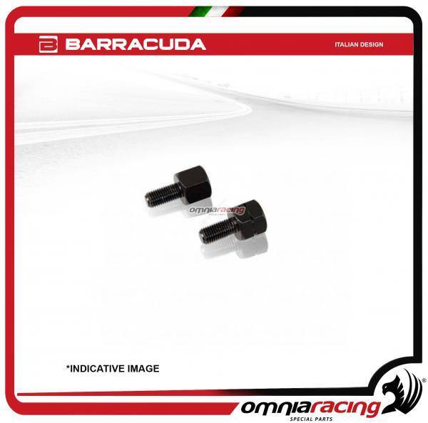 Barracuda 2 adattatori specchietti retrovisori universali Barracuda 8mm