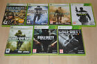 ENORME lot 7 jeux CALL OF DUTY XBOX 360 : Modern Warfare, Black Ops - VF