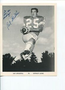 Pat-Studstill-Detroit-Lions-New-England-Patriots-Houston-Cougar-Signed-Photo