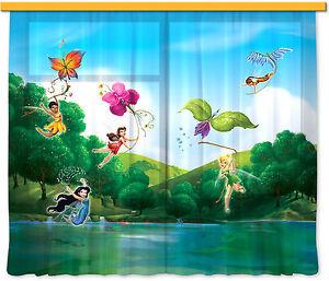034-Tinker-Bell-034-Kinder-Foto-Vorhang-Gardine-180x160cm