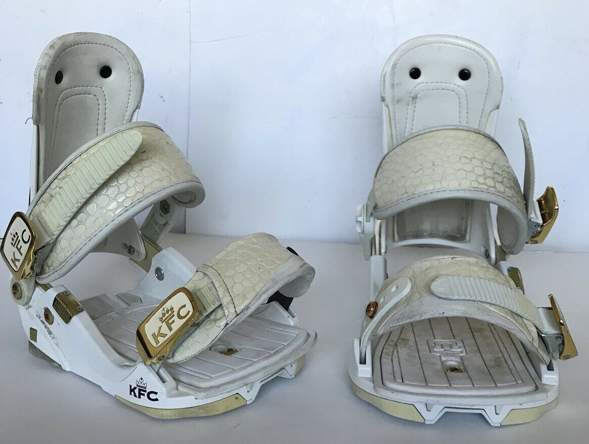 Used Union KFC Donna Snowboard Bindings Large Size Large Park Binding