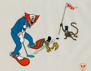 Bozo-the-Clown-034-Bozo-Golf-034-Sericel-Serigraph-1992-Putter-Squirrel-Monkey-Caddy