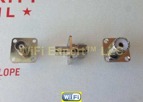 Flange BNC Female plug to UHF FEMALE SO-239 RF coaxial Adapter RF Connector USA