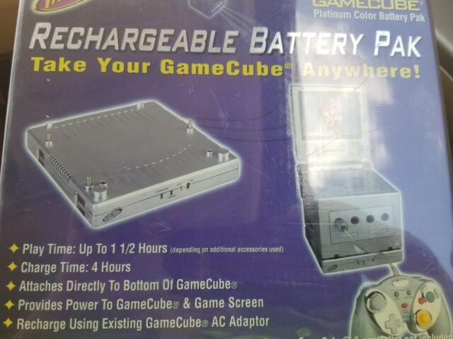 Nintendo Intec Gamecube Rechargeable Battery Pak Platinum Color