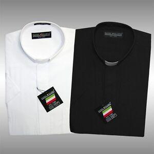Daniel ellissa tab collar clergy shirt w short sleeves for Daniel ellissa men s dress shirts