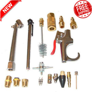 Details about 18 Piece Air Compressor Accessory Kit Tool Blow Gun for  Standard 3/8