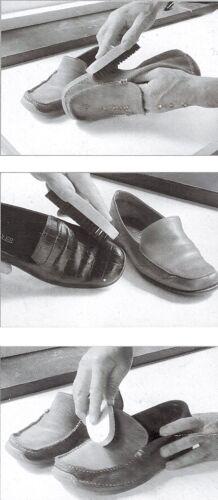 2x SCHUHBÜRSTE 12,5cm Schuhputzbürste Schuhbürsten Schuhcremebürste Glanz Bürste