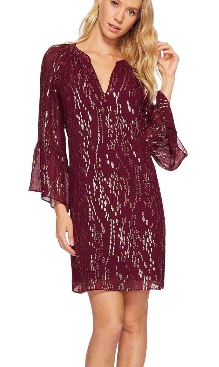 b6438153c31 Lilly Pulitzer Matilda Silk Metallic Tunic Dress Fish Clip Chiffon Shiraz XS  for sale online | eBay